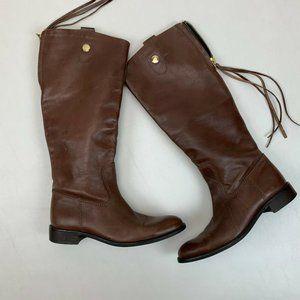 Zara Shoes - Zara Womens Boots SZ 39 Tall Leather Riding Boot